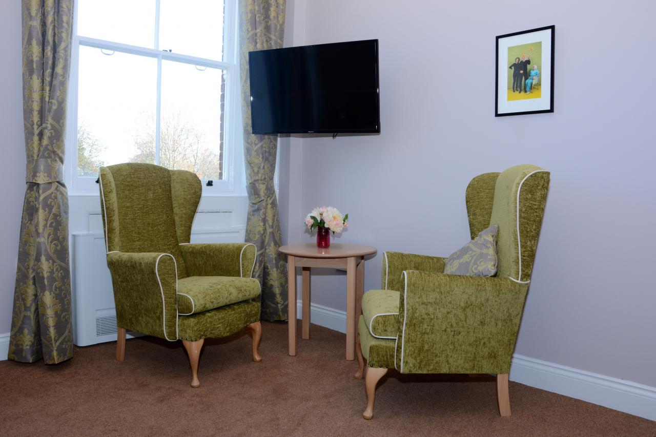 Lounge at Allenbrook Care Home Fordingbridge